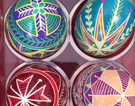 colorful art eggs