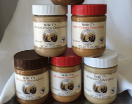 Jars of nut butters